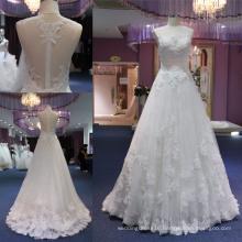 Hot Sale Lace A Line Evening Bridal Wedding Gown Dress Dresses Mat-118
