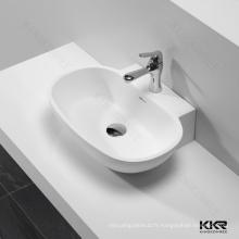 Bassins debout libres de salle de bains blanche pure / bassin de lavage en pierre artificiel de toilettes publiques