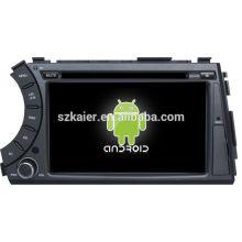 Usine directement! Android 4.2 écran tactile voiture dvd GPS pour Ssangyong Kyron + dual core + OEM + Glanoss + 1024 * 600touch écran