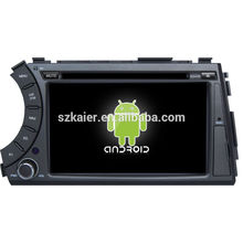 Factory directly ! Android 4.2 touch screen car dvd GPS for Ssangyong Kyron +dual core +OEM+Glanoss+1024*600touch screen