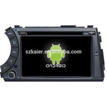 Fábrica diretamente! Dvd GPS do carro da tela de toque do andróide 4,2 para a tela de Ssangyong Kyron + dual core + OEM + Glanoss + 1024 * 600touch