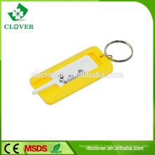 Profondeur de la bande de roulement en plastique 0-20mm jauges de profondeur de la bande de roulement avec porte-clés pour voiture utilisant