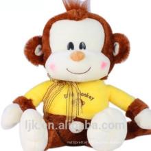 Diseño personalizado mono amarillo juguete de peluche