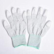 Nylon / Polyester Handschuhe PU Beschichtung auf Palm und Fingern
