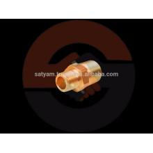 Misturador hexagonal de junção em bronze / Fibra de encaixe em latão / encanamento
