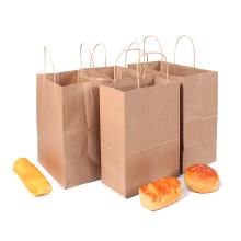 Maßgeschneiderte Lebensmittel Papiertüte Kraftpapier Tasche