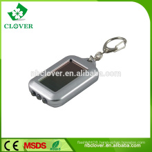 Colorful 3 led personalized mini solar keychain for promotion