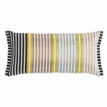 Satin Stripe Weave Cushion, Available in Nice Designs, Measures 60 x 30cm or 24 x 1-inch