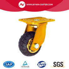Elastic Rubber Plate Swivel Industrial Caster Europe Type