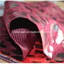 Rebanho impressão chiffon / flocking tecido de georgette / flocking impressão vestido tecido