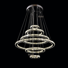 Rings chandelier crystal led lamp