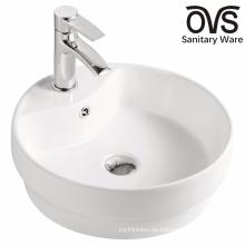 Populäres weißes Badezimmer-halb vertiefte Bassin
