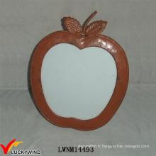 Table en métal à la main en forme de pomme Cadre photo