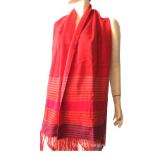 100%Cashmere Color Stripe Scarf