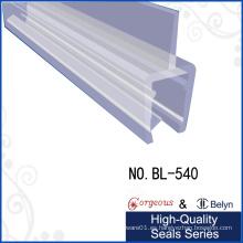 Puerta de cristal Parte inferior de la cubierta transparente de PVC Sello Gluco Tiras de rollo