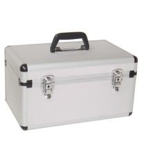 Caso de aluminio de vuelo Caja pequeña Herramienta de cámara de plata Carry Estuche de viaje