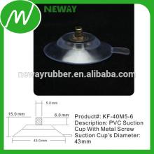 Fácil de remover o copo de sucção de PVC 43mm com parafuso