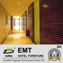 Painéis de parede de madeira do corredor do hotel de design de moda (EMT-F1204)