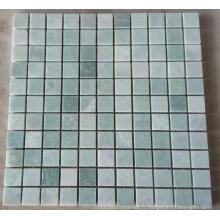 Mosaïque de marbre en mosaïque de pierre verte pour mur et plancher (HSM223)