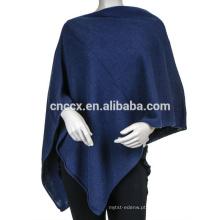 PK17ST261 Cashmere malha poncho, lenço