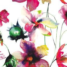Digitaldruck Polyester Blume Kleid Stoff