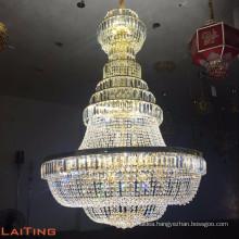 Luxury crystal pendant lamp big chandelier crystal hotel lobby chandelier