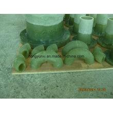 Coude en plastique renforcé de fibre de verre de 45deg ou de 90deg (FRP)