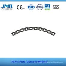 Plaque pelvienne pour implants orthopédiques osseux en métal
