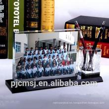 Marco de fotos de cristal de regalo y recuerdo de graduación 2016