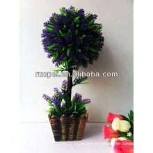Bonsai artificial hogar y decoración exterior violeta color lawender boj árbol topiary hoja