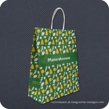 Saco de papel relativo à promoção de Kraft com punho da torção