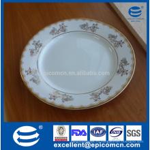 Фабричные фарфоровые золотые обеденные тарелки