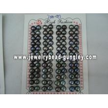 Half drilled pearl AAA grade 7mm, black