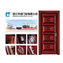 Interior de madera con puerta de entrada de precio de calle (LTS-401)
