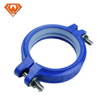 acoplamiento flexible acanalado con color azul