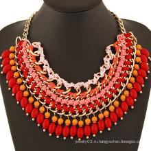 Самые последние продукты в рынке handmade вышитый бисером ожерелье заявления