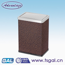 Rectangular leather garbage bin