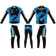 Custom Pro Winter Thermal Cycling Jacket And Pants, Long Sleeve Jerseys And Trousers