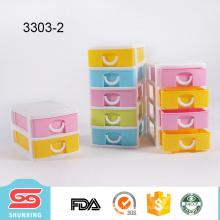 nuevo diseño plástico colorido de calidad superior pp mini caja de organizador de maquillaje con cajón