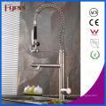 Fyeer New Nickle brossé vers le bas robinet d'évier de cuisine de pulvérisation