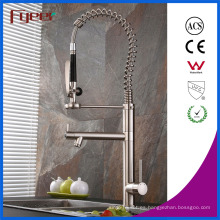 Fyeer New Nickle Brushed Pull Down Spray Grifo de cocina fregadero