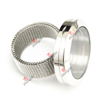 Stainless Steel Round Locket Ring for Wholesale