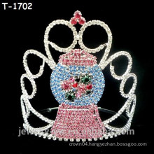 Wholesale crystal cute snowman christmas pageant crowns