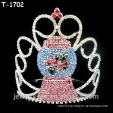Atacado cristal bonitinho boneco de neve concursos de Natal coroas