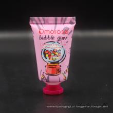 Pequeno tubo de brilho labial de 8 ml de plástico personalizado embalagem de cosméticos