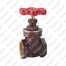 brass gate valve with bronze-coloured