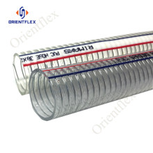 flexible transparent spring wire mesh hose