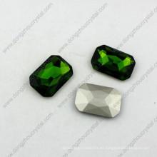 Cojín de cabujón de octágono de 13 * 18 mm Corte de piedra de fantasía de lujo de piedra cúbica de cristal para la fabricación de joyas
