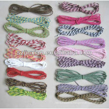 Colorful packaging paper rope,papercord