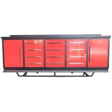 Banc de travail en métal de tiroir d'utilisation chaude de garage de ventes avec 2 armoires